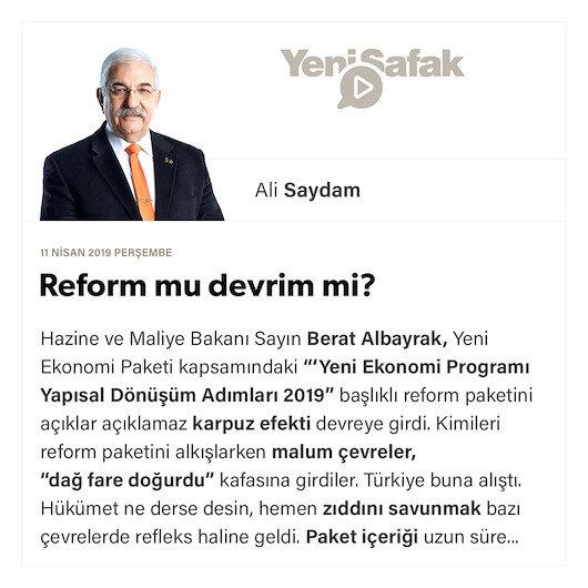 Reform mu devrim mi?