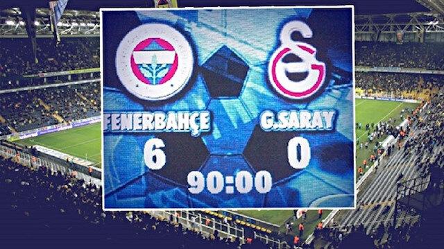 6-0'lık skor,  Fenerbahçe'nin Süper Lig tarihinde Galatasaray'a karşı elde ettiği en farklı galibiyet olarak tarihe geçti.