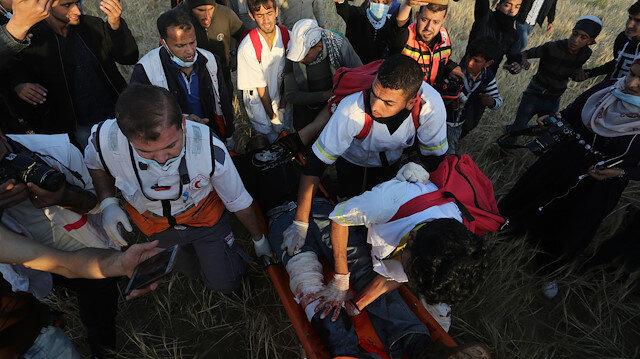 İsrail işgal güçleri Gazze'de saldırdı: Bir şehit 66 yaralı