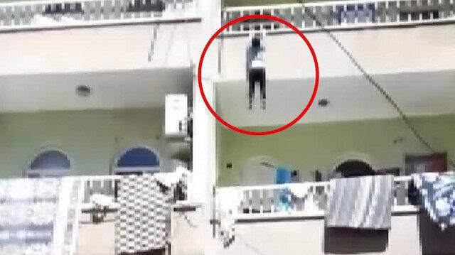Şanlıurfa'da balkondan düşen çocuğu havada yakaladılar