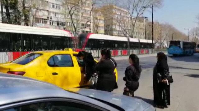 Taksiciler kısa mesafe pazarlığı yaparak müşteri almadılar