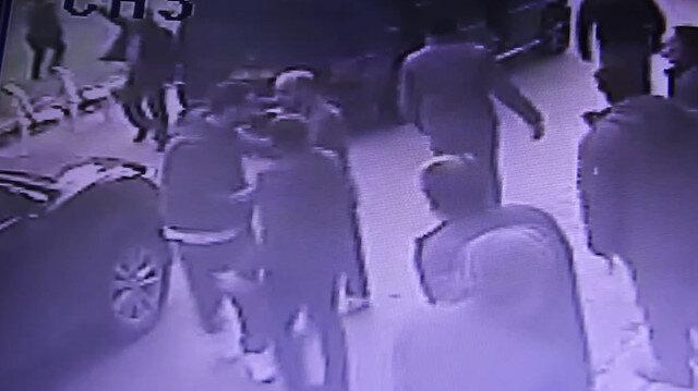 Cenazesi sonrası çatışma  anları kamerada