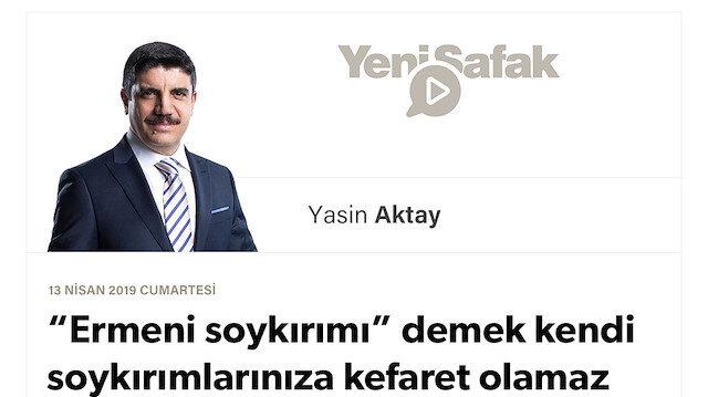 """""""Ermeni soykırımı"""" demek kendi soykırımlarınıza kefaret olamaz"""