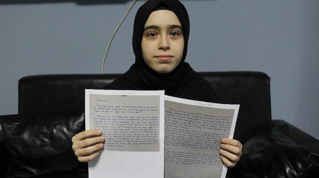 Ecdada yazdığı mektupla birinci oldu