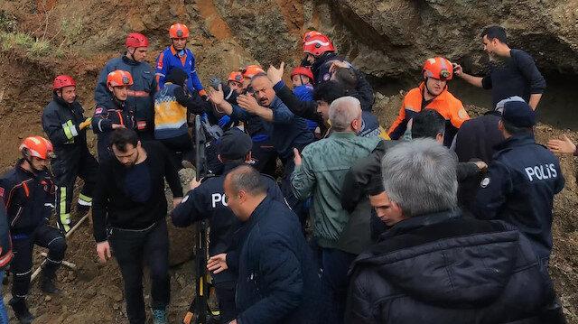 Toprak altında kalan ağır yaralı vatandaş kurtarıldı