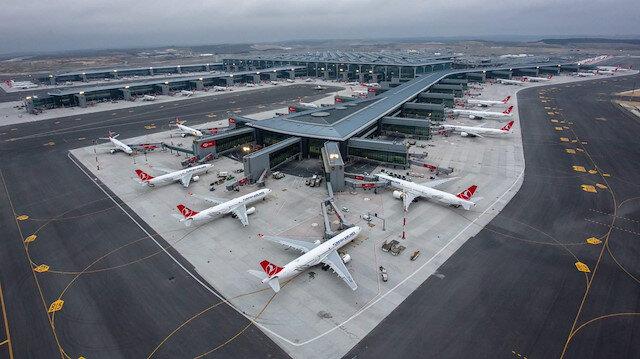 THY İstanbul Havalimanı'nda 1 milyonuncu yolcuya doğru gidiyor