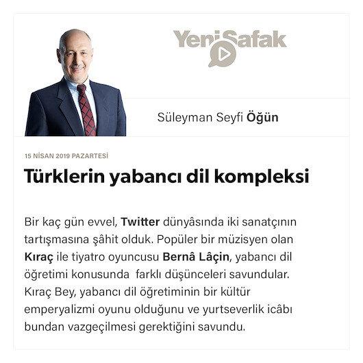 Türklerin yabancı dil kompleksi