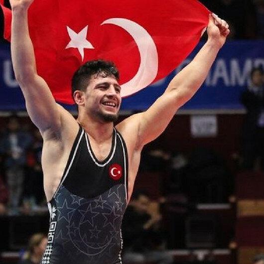 Turkish wrestler wins silver in European championships