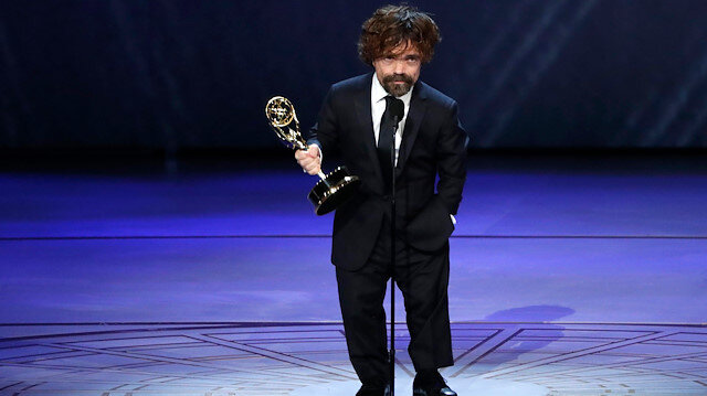 70th Primetime Emmy Awards - Show - Los Angeles, California, U.S., 17/09/2018 - Peter Dinklage for Game of Thrones wins the Emmy for Outstanding Supporting Actor in a Drama series. REUTERS/Mario Anzuoni
