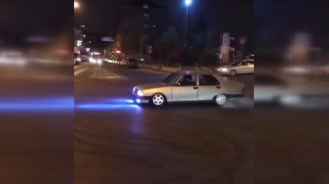 Drift yapan 10 bin liraık Şahin'e 7 bin 710 lira ceza