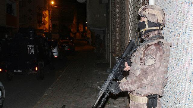 İstanbul'daki operasyondan görüntü.