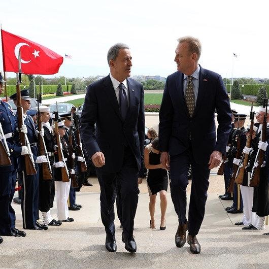 Milli Savunma Bakanı Akar Shanahan ile bir araya geldi