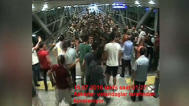 Atatürk Havalimanı'nda vatandaşlar FETÖ'cü askerleri böyle kovalamış