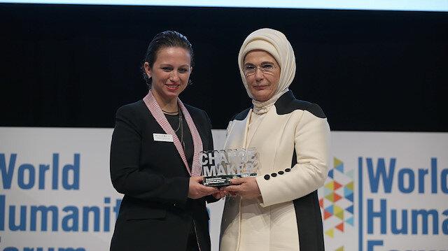 Emine Erdoğan'a 'Fark Yaratan' ödülü