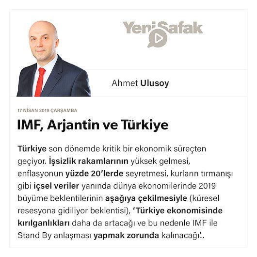 IMF, Arjantin ve Türkiye