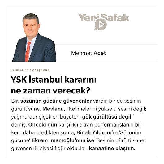 YSK İstanbul kararını ne zaman verecek?