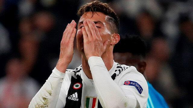 Juventus'u  Ronaldo da kurtaramadı