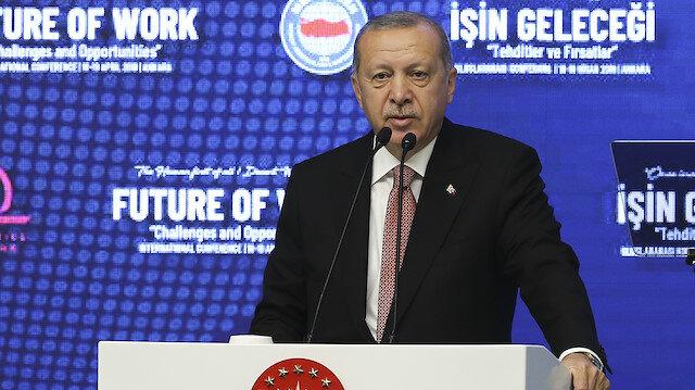 Türkiye Cumhurbaşkanı Recep Tayyip Erdoğan Memur-Sen konferansında konuştu.