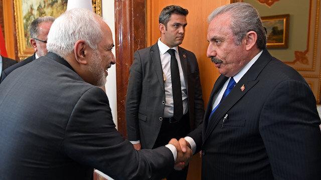 TBMM Başkanı Şentop İran Dışişleri Bakanı Zarif'i kabul etti