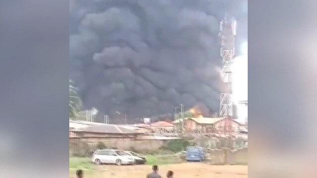 Nijeryada yakıt taşıyan tanker patladı