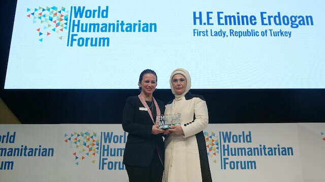 Turkish First lady Emine Erdoğan gets Changemaker award