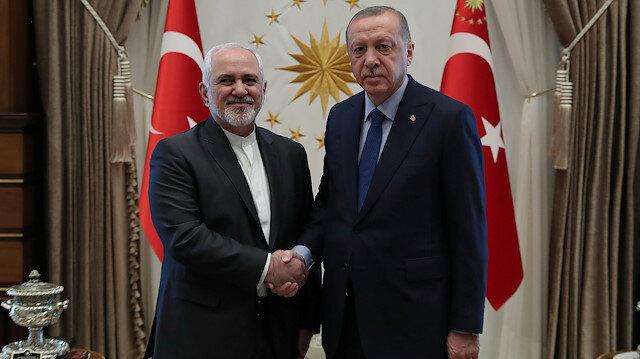 Turkish President Tayyip Erdoğan meets with Iranian Foreign Minister Mohammad Javad Zarif