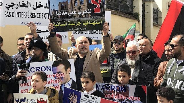 احتجاج أمام قنصلية باريس بإسطنبول على