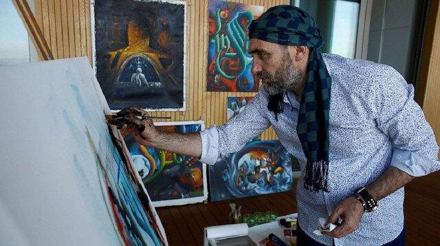 Turkish artist opens art exhibition in Rome