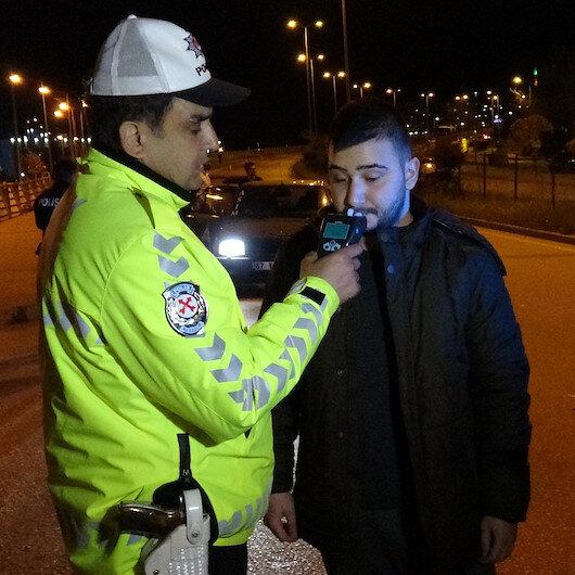 Alkollü sürücünün çağırdığı arkadaşı da alkollü çıktı