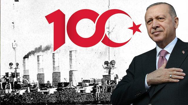 100. yıl logosu - Cumhurbaşkanı Recep Tayyip Erdoğan
