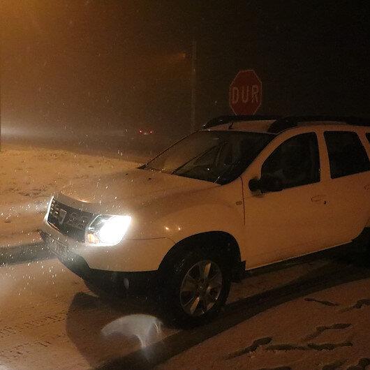 Bolu Dağı'nda kar etkili oluyor