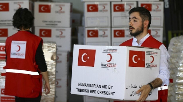 الهلال الأحمر التركي يستعد لتوزيع مساعدات في 35 بلدًا خلال رمضان