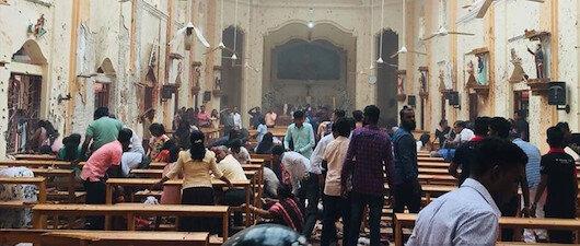 Sri Lanka'da<br>eş zamanlı patlama