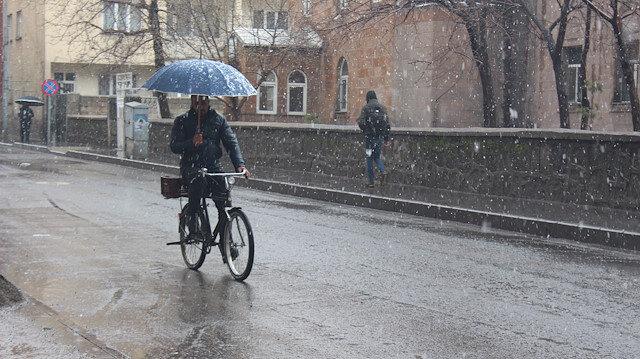 Meteorolojiden karla karışık yağmur uyarısı