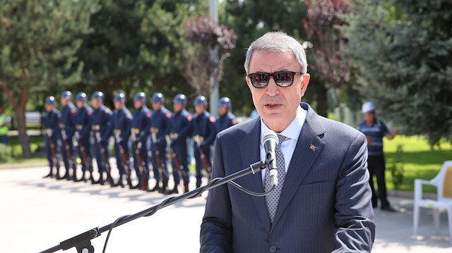 Savunma Bakanı Akar: Mesaj dediğim 'terörü bitirin' sözüne yanıttı