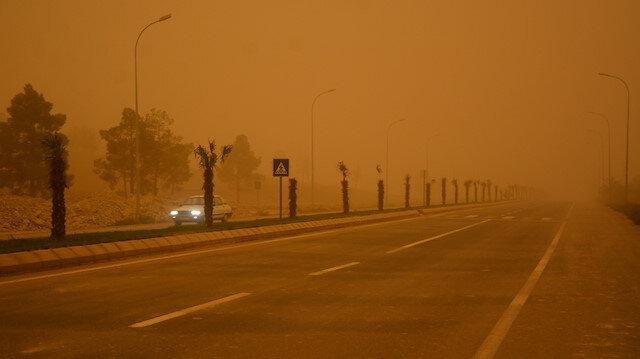 Toz bulutlarının etkili olduğu bir bölge. Fotoğraf: Arşiv.