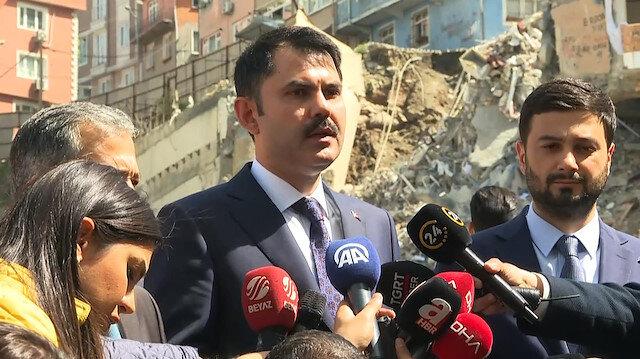 Bakan Kurum: Kağıthane'de 68 bina incelenecek
