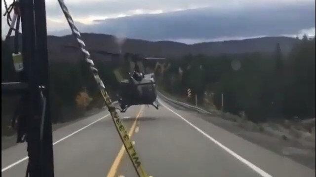 Helikopter ile asfalta sıfır uçtu