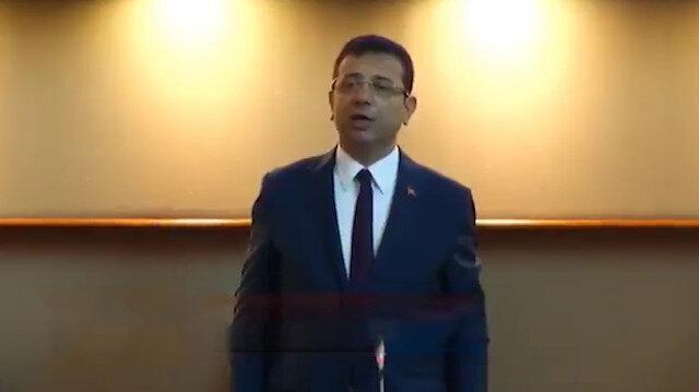 Ekrem İmamoğlu ilk meclis toplantısında İstiklal Marşı'nı yanlış okudu