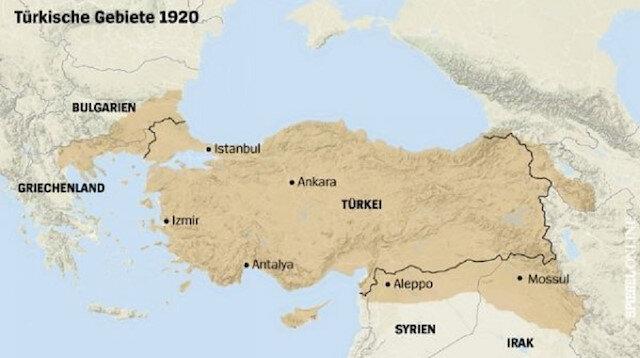 Türkiye topraklarının 1920 yılına ait haritasını okurlarına sunan dergi, yine aynı haritanın gerçekleşmesinden korkuyor.