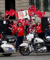 Washingtonda Ermeniiddialarına karşı protesto
