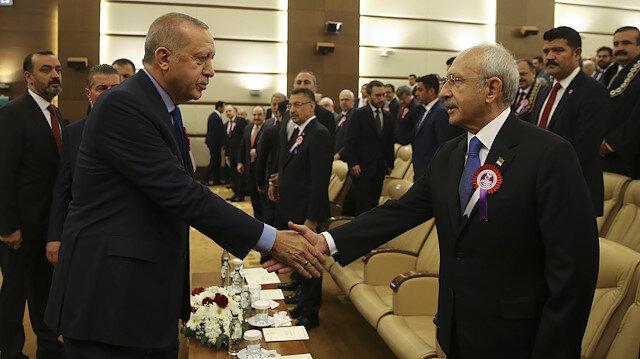 Cumhurbaşkanı Erdoğan ve CHP Lideri Kılıçdaroğlu.