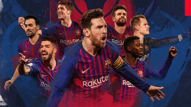 Barcelona'nın hesabından paylaşılan görsel