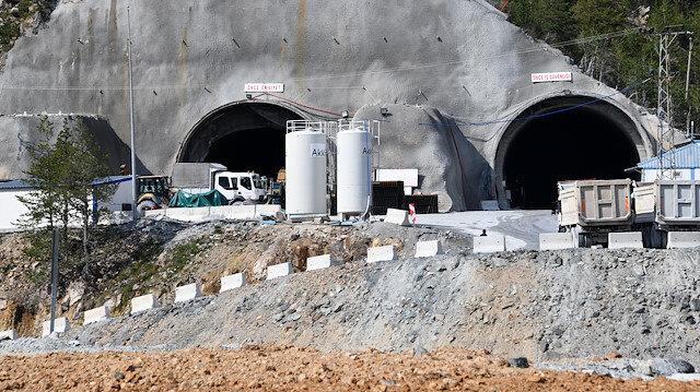 Yeni Zigana Tüneli'nde yüzde 60'a yaklaşıldı