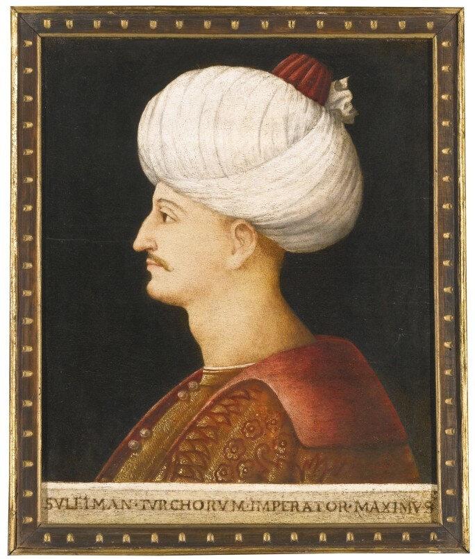 Kanuni Sultan Süleyman portresi, 41 milyon 440 bin liralık satış fiyatıyla tahmin edilenin 19 katına alıcı buldu/ Fotoğraf: Sotheby's