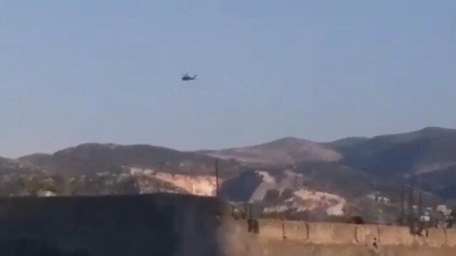 TSK'ya ait helikopter Suriye'de