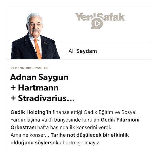 Adnan Saygun + Hartmann + Stradivarius…