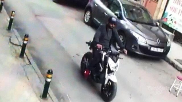 Aldığı sıfır motosiklete plaka taktıramadan çaldırdı