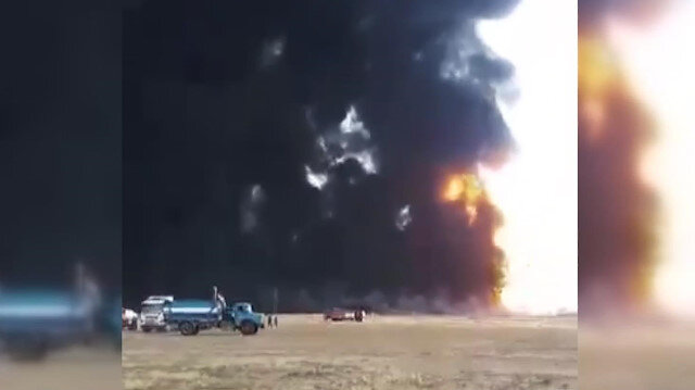 İran'da petrol boru hattında patlama
