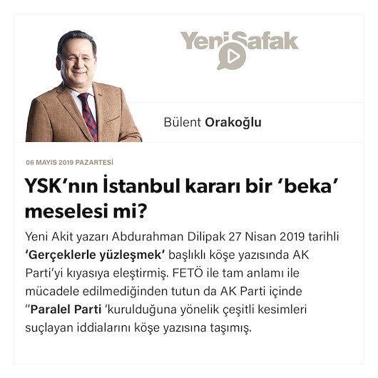 YSK'nın İstanbul kararı bir 'beka' meselesi mi?